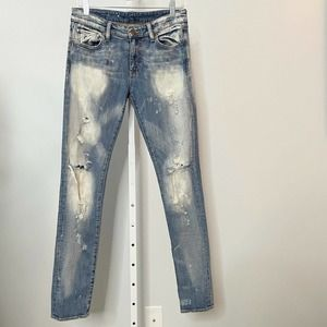 Denim & Supply RL Skinny Distressed Jeans